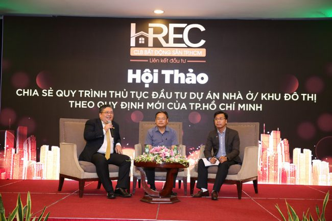 Hội thảo Chia sẻ quy trình thủ tục đầu tư dự án nhà ở/ khu đô thị theo quy định với của TP.Hồ Chí Minh