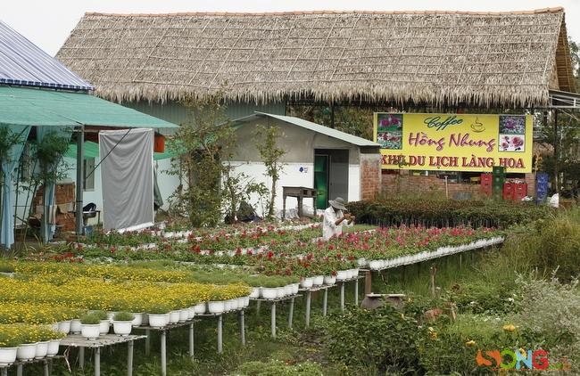 Làng hoa bây giờ có nhiều dịch vụ lưu trú, khách có thể ở ngay tại làng chứ không cần tạm trú ở các khách sạn trong thành phố.
